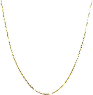 PRIVATE BRAND FINE JEWELRY Made in Italy 14K Yellow Gold 18 Semi-Solid Box Chain