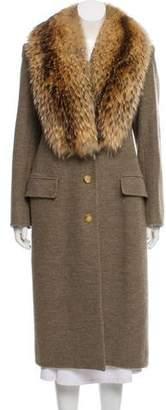 Saint Laurent Vintage Sable Fur-Trimmed Coat