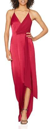 Halston Satin-Backed Crepe Gown with Sash