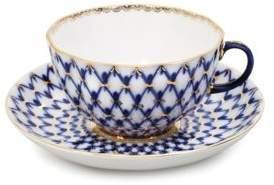Imperial Porcelain Two-Piece Tulip Porcelain Teacup & Saucer Set