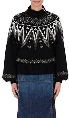 Sacai Women's Bead-Embellished Sweater $2,330 thestylecure.com