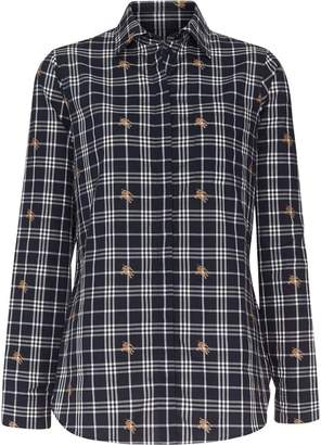 Burberry Fil Coupé Check Cotton Shirt