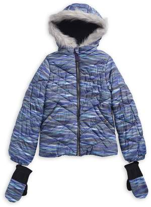 London Fog F.O.G. By Girl's Faux Fur-Trimmed Hooded Jacket