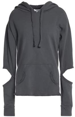 LnA Cutout French Cotton-Terry Hoodie