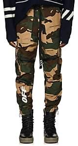 Off-White Men's Camouflage Cotton Ripstop Cargo Pants-Beige, Tan