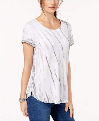 Style&Co. Style & Co Petite Tie-Dye T-Shirt, Created for Macy's