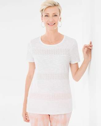 Lace-Inset Tee