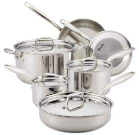 Breville Thermal Pro Tri-Ply Stainless Steel 10-Piece Cookware Set