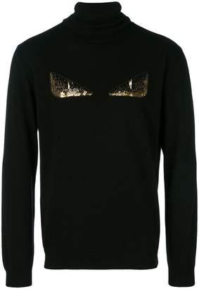 Fendi Bag Bugs turtle-neck sweater