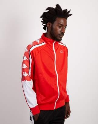 Kappa Banda 10 Ahran Zip Up Jacket Red & White