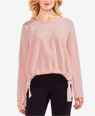 Vince Camuto French Terry Drawstring Sweater