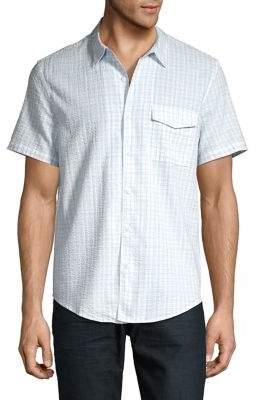 Lucky Brand Checked Short-Sleeve Shirt