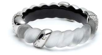 Alexis Bittar Frosted Crystal Encrusted Twisted Rope Hinge Bracelet