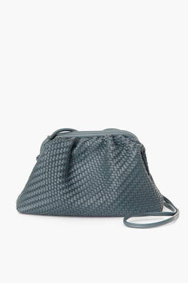 Street Level Slate Woven Frame Bag with Long Handle