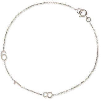 Maya Brenner Designs Mini 3-Number Bracelet, White Gold