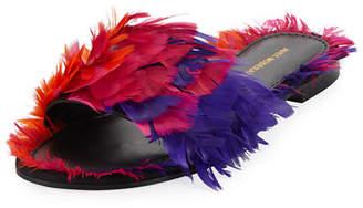 Avec Moderation Bora Bora Feather Slipper Sandal
