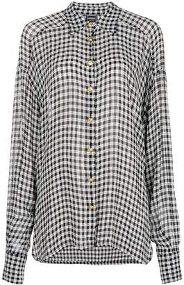 7f8e51b0 Versace Pre-Owned gingham checked shirt