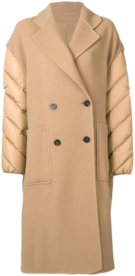 shell-panelled coat