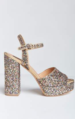 Show Me Your Mumu Steve Madden ~ Jazzy Glitter Platforms ~ Dark Glitter