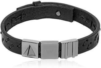 Oka Laser-Cut Leather Bracelet