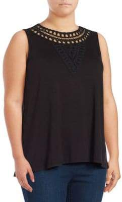 Context Plus Embellished Sleeveless Top