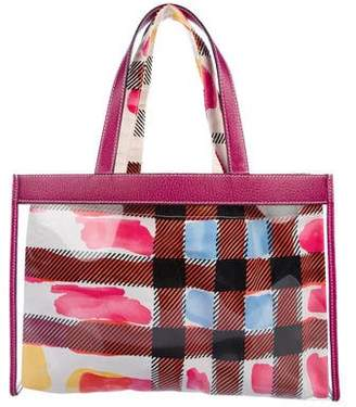 Burberry Leather-Trimmed PVC Tote