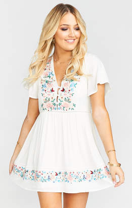 Show Me Your Mumu Betty Babydoll Dress ~ Once Upon a Flower Embroidery