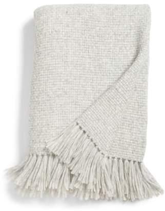 Jenni Kayne Basket Weave Alpaca Blend Throw Blanket
