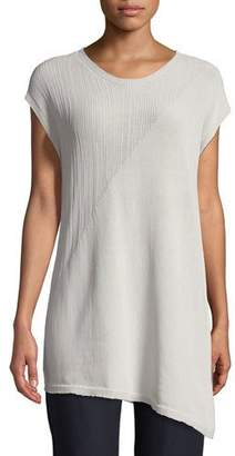 Eileen Fisher Short-Sleeve Asymmetric Tunic