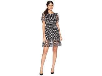 Betsey Johnson Dotty Ruffle Hem Dress Women's Dress