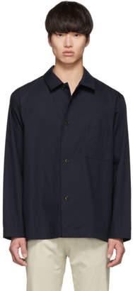 Dries Van Noten Navy Casal Shirt