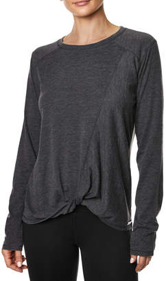 Betsey Johnson Seamed Knot Front L/S Tee