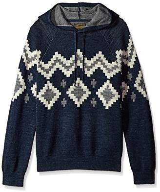 Lucky Brand Men's Intarsia Hooded Sweatshirt