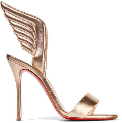 Christian Louboutin - Samotresse 100 Metallic Leather Sandals - Gold