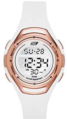 Skechers Women's Quartz Plastic and Polyurethane Fitness Watch