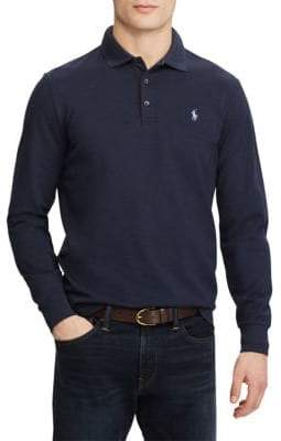 Polo Ralph Lauren Stretch Long-Sleeve Mesh Polo