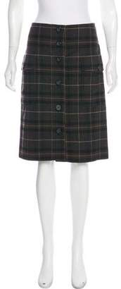 Magaschoni Plaid Knee-Length Skirt