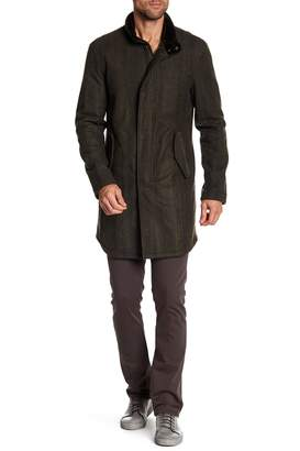 John Varvatos Collection Stand Up Collar Jacket