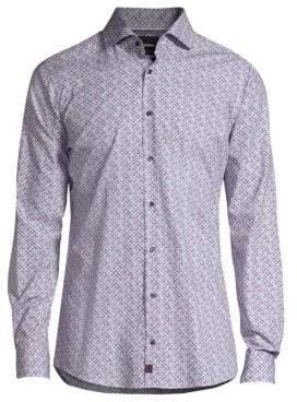 Strellson Sereno Slim-Fit Print Button-Down Shirt