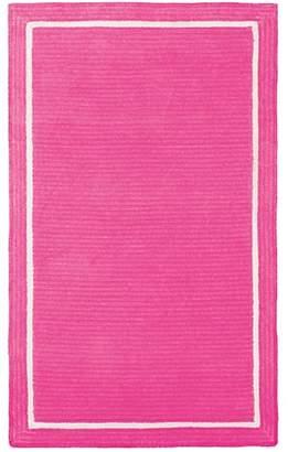 Pottery Barn Teen Capel Border Rug, 8'x10', Pink Magenta
