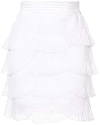 Balmain pleated scalloped skirt