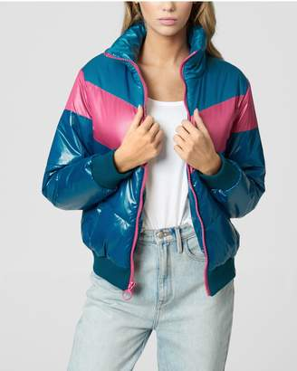 Juicy Couture SHINY COLORBLOCKED PUFFER JACKET