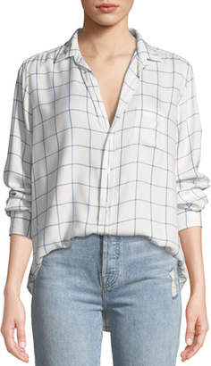 Frank And Eileen Eileen Long-Sleeve Button-Front Windowpane Check-Print Modal Shirt