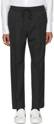 Gucci Grey Plain Military Wool Trousers