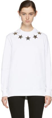 Givenchy White Silver Stars Sweatshirt
