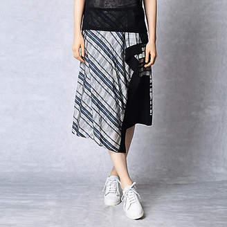 Artisan 格子更紗ジャガードアシンメトリースカート(0801FH01)