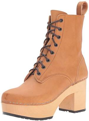 Swedish Hasbeens Women's Lace up Plateau Boot