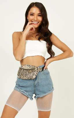 Showpo No Way Back Fishnet Bike Shorts In White Sale Accessories