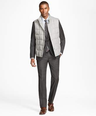 Brooks Brothers Technical Wool Down-Filled Vest