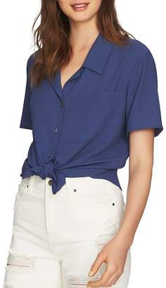 1 STATE 1.STATE Short-Sleeve Tie-Waist Top
